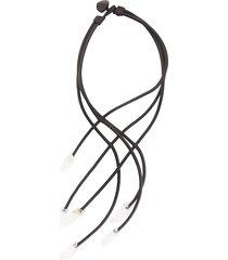 monies unique cable necklace - yellow