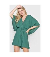 macaquinho dress to amarração verde