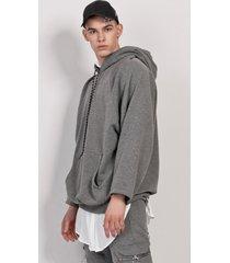 bluza hoodie grey