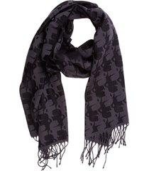 karl lagerfeld fur free fur wool scarf