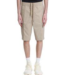 neil barrett shorts in beige cotton