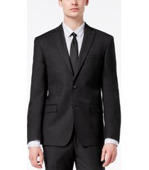 dkny men's modern-fit stretch textured suit jacket