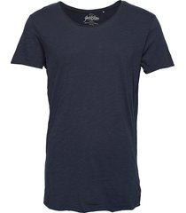 jjebas tee ss u-neck noos t-shirts short-sleeved blå jack & j s