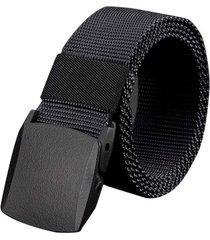 cinturon reata hombre militar hebilla abs 3276 negro