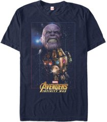 marvel men's avengers infinity war thanos fierce power of the gauntlet short sleeve t-shirt
