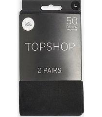 50 denier tights - black