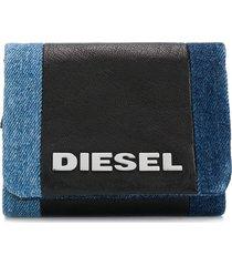 diesel denim logo purse - black