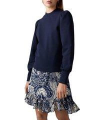 women's scotch & soda puff shoulder sweatshirt, size x-large - blue