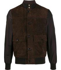 moorer kant-kmu paneled jacket - brown