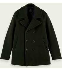 scotch & soda klassieke double-breasted peacoat