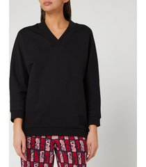 kenzo women's kenzo sport sweatshirt - black - xs
