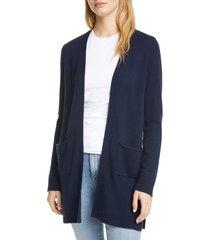 women's atm anthony thomas melillo cashmere open cardigan, size x-small - blue