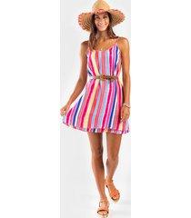izabella stripe dress - multi