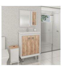 gabinete para banheiro branco cartagena lilies móveis
