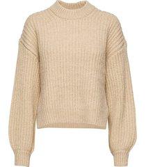dona crew neck 11213 stickad tröja beige samsøe samsøe