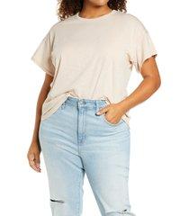 plus size women's madewell sorrel whisper ringer t-shirt, size 1x - pink