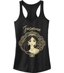 disney juniors' aladdin jasmine portrait sketch ideal racerback tank top