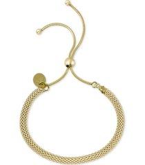 argento vivo mesh chain bolo bracelet