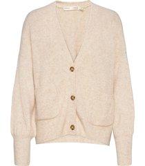 inoiw cardigan gebreide trui cardigan beige inwear