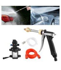 kit de mangueira de bomba de água para lavadora de alta pressão de 12v portátil 130psi 80w poderoso limpador de lavagem para carro