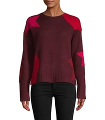 cropped star cashmere sweater