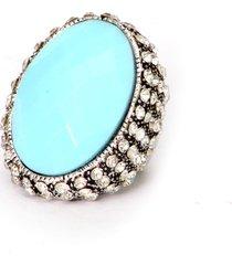 anel lovelee acessórios big azul claro