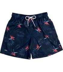 shorts masculino de praia estampa floral 613 mash
