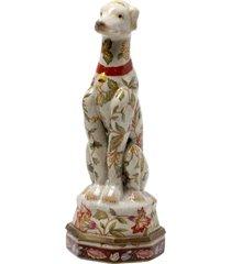 escultura decorativa de porcelana sitting dog le jardin