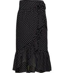 2nd mora dot thinktwice knälång kjol svart 2ndday