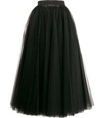 dolce & gabbana long tulle full skirt - black
