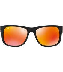 gafas de sol ray ban justin orange mirror