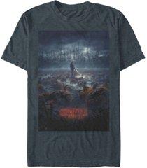 fifth sun men's stranger things hopper pumpkin patch poster short sleeve t-shirt