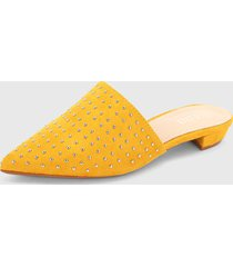 slipper amarillo-plateado paris district