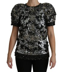 sequined crystal embellished top blouse