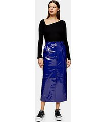 *cobalt blue vinyl leather skirt by topshop boutique - cobalt