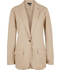 blazer in misto lino loose fit (marrone) - bpc bonprix collection