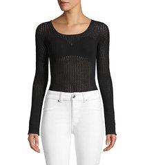 janis open knit bodysuit