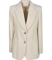 victoria beckham patterned classic coat