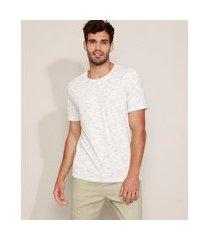 camiseta masculina básica manga curta gola careca branca