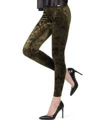 memoi crushed velvet women's leggings