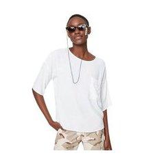 blusa t- shirt basica off white - 36