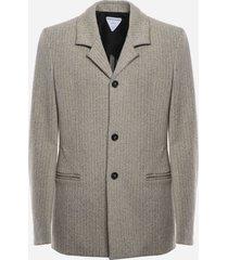 bottega veneta cotton blend jacket with herringbone pattern