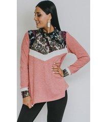 sweater paula rosa franja blanca natalia seguel