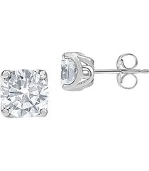 14k white gold & 0.50 tcw lab-grown diamond solitaire stud earrings