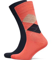 th men sock check 2p underwear socks regular socks orange tommy hilfiger