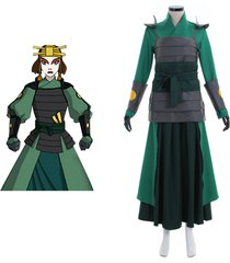 avatar the last airbender kyoshi warriorsm cosplay costume anime women's outfit