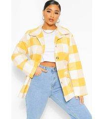 plus oversized flannel shacket, mustard