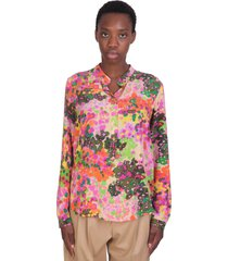 stella mccartney eva shirt in rose-pink silk