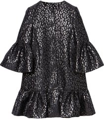 carolina herrera jacquard-woven dress - black