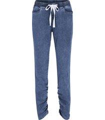 jeans elasticizzati con arricciature, laccetto e cinta comoda (blu) - bpc bonprix collection